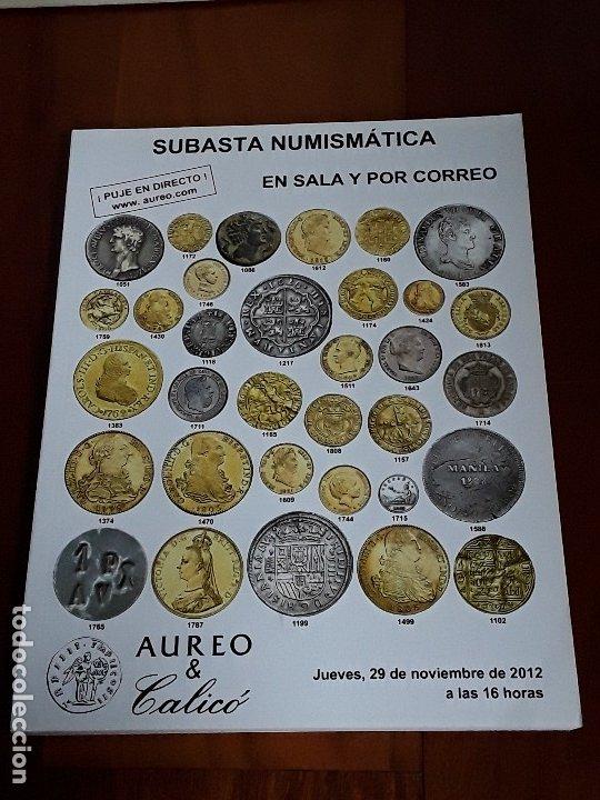 CATALOGO SUBASTA AUREO. NOVIEMBRE 2012 (Numismática - Catálogos y Libros)