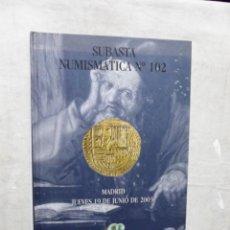 Catálogos y Libros de Monedas: SUBASTA NUMISMATICA Nº 102 MADRID 19 DE JUNIO DE 2003. Lote 180962526