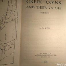 Catálogos y Libros de Monedas: CATALOGO GREEK COINS 1966. SEABY. Lote 181138607