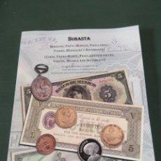 Catálogos y Libros de Monedas: CATÁLOGO DE SUBASTA NUMISMÁTICA. EN CONJUNCIÓN CON LA XLIX CONVENCIÓN NUMISMÁTICA INTERNACIONAL. Lote 181339065