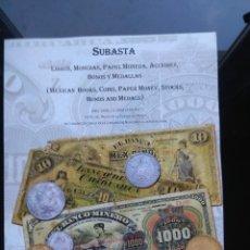 Catálogos y Libros de Monedas: CATÁLOGO DE SUBASTA NUMISMÁTICA EN CIUDAD DE MÉXICO. ABRIL DE 2008. Lote 182195177