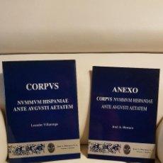 Catálogos y Libros de Monedas: CORPUS NUMMUM HISPANIAE ANTE AUGUSTI AETATEM + ANEXO - LEANDRE VILLARONGA. Lote 183878556