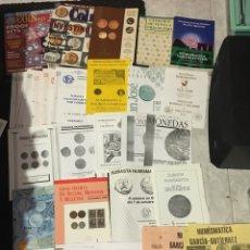 Catálogos y Libros de Monedas: GRAN LOTE DE NUMISMATICA AÑOS 90-AFINSA,CARLOS FUSTER,SAN JOSE,SABADELL,CAMPILLO ETC. Lote 193429475