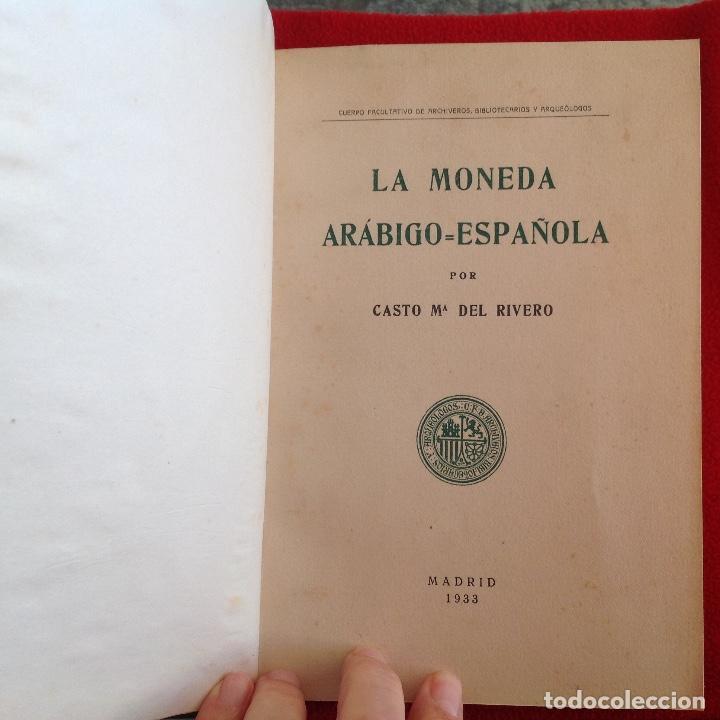 Catálogos y Libros de Monedas: La moneda arabigo española, compendio de numismatica musulmana, de Casto María del Rivero, 1933 - Foto 2 - 193616682