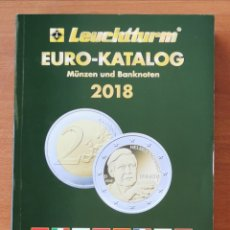 Catálogos y Libros de Monedas: EURO CATÁLOGO LEUCHTTURM 2018, EN ALEMÁN. PVP DE LEUCHTTURM 14,95€. Lote 193663802
