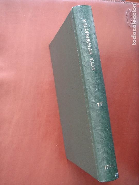 Catálogos y Libros de Monedas: ACTA NUMISMÁTICA IV, 1974, libro 4 - Foto 3 - 194008751