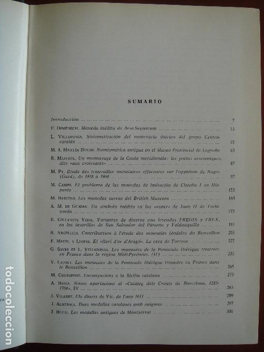 Catálogos y Libros de Monedas: ACTA NUMISMÁTICA IV, 1974, libro 4 - Foto 5 - 194008751