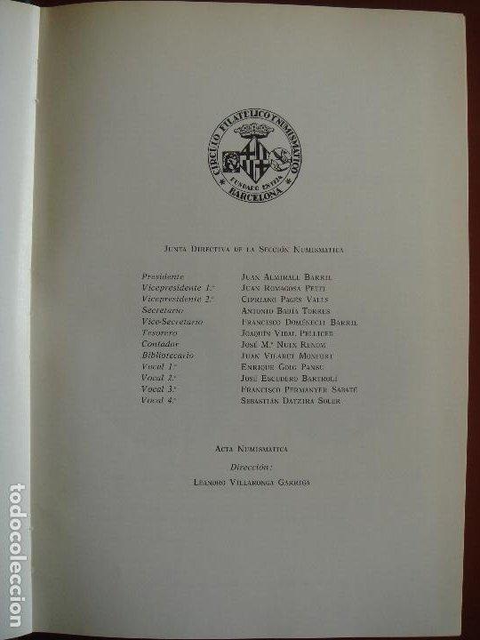 Catálogos y Libros de Monedas: ACTA NUMISMÁTICA IV, 1974, libro 4 - Foto 7 - 194008751
