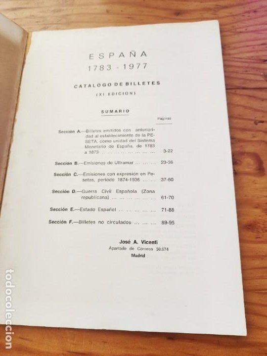 Catálogos y Libros de Monedas: BILLETES ESPAÑOLES 1783 - 1977- XII EDC.-1977/78.-JOSÉ A. VICENTI. - Foto 4 - 194285595
