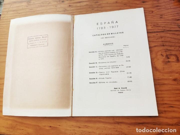 Catálogos y Libros de Monedas: BILLETES ESPAÑOLES 1783 - 1977- XII EDC.-1977/78.-JOSÉ A. VICENTI. - Foto 5 - 194285595