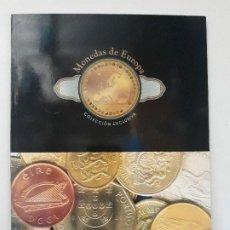 Catálogos y Libros de Monedas: ALBUM MONEDAS DE EUROPA, TIPO LIBRO CON HISTORIA DE LAS MONEDAS Y 40 REPLICAS DE MONEDAS DE EUROPA . Lote 194898210