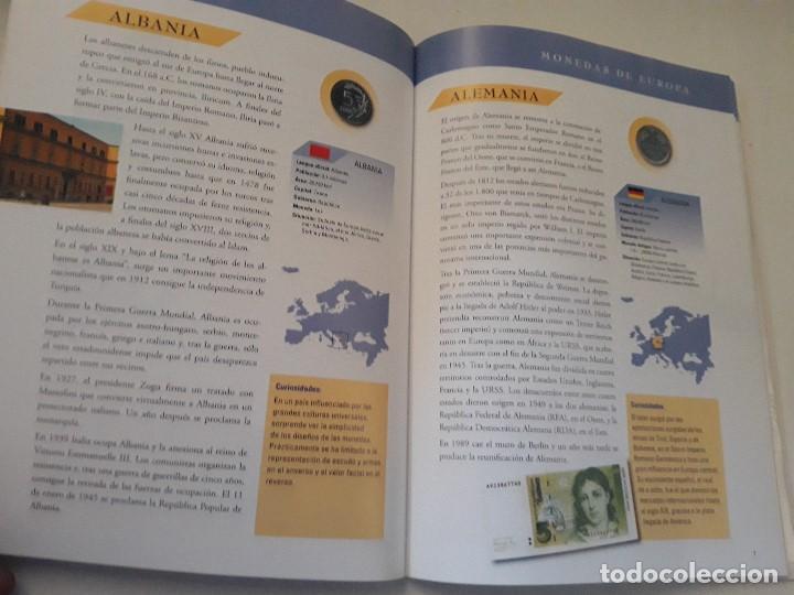 Catálogos y Libros de Monedas: Album monedas de europa, tipo libro con historia de las monedas y 40 replicas de monedas de Europa - Foto 4 - 194898210