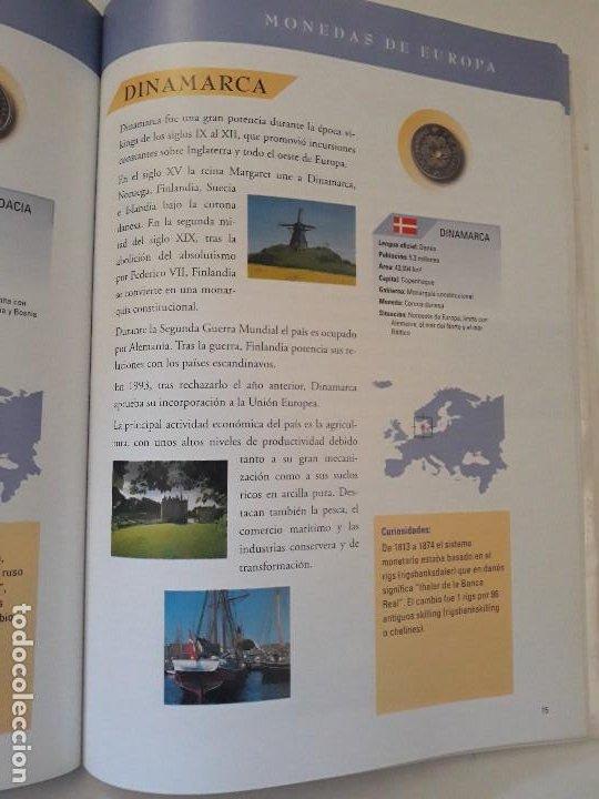 Catálogos y Libros de Monedas: Album monedas de europa, tipo libro con historia de las monedas y 40 replicas de monedas de Europa - Foto 5 - 194898210