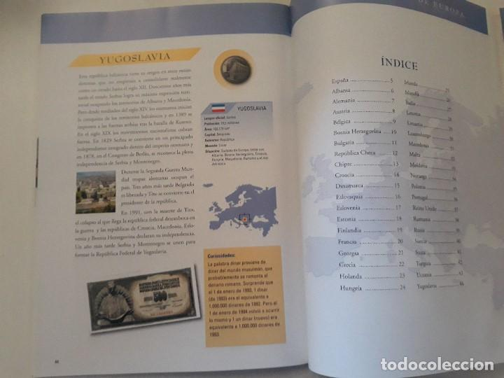 Catálogos y Libros de Monedas: Album monedas de europa, tipo libro con historia de las monedas y 40 replicas de monedas de Europa - Foto 6 - 194898210