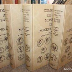 Catálogos y Libros de Monedas: COMPENDIO DE LAS MONEDAS DEL IMPERIO ROMANO, JUAN R. CAYÓN. 4 TOMOS. Lote 194978345