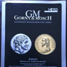 Catálogos y Libros de Monedas: CATÁLOGO MONEDAS SUBASTA 269 MARZO 2020 NUMISMÁTICA GORNY & MOSCH. Lote 194982482