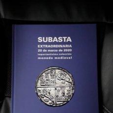 Catálogos e Livros de Moedas: CATALOGO SUBASTA CAYON. IMPORTANTISIMA COLECCIÓN MONEDA MEDIEVAL.MARZO 2020. Lote 253037805