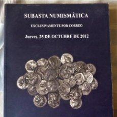 Catálogos y Libros de Monedas: LIBRO CATALOGO DE SUBASTA NUMISMATICA. Lote 196747588