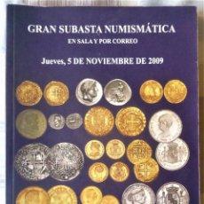 Catálogos y Libros de Monedas: LIBRO CATALOGO DE SUBASTA NUMISMATICA. Lote 196747890
