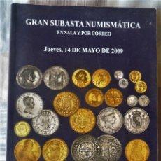 Catálogos y Libros de Monedas: LIBRO CATALOGO DE SUBASTA NUMISMATICA. Lote 196748236
