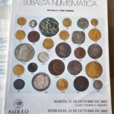 Catálogos y Libros de Monedas: LIBRO CATALOGO DE SUBASTA NUMISMATICA. Lote 196748790