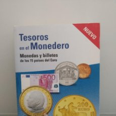 Catálogos y Libros de Monedas: TESOROS EN EL MONEDERO. MONEDAS Y BILLETES DE LOS 15 PAÍSES DEL EURO. 2005.. Lote 198073402