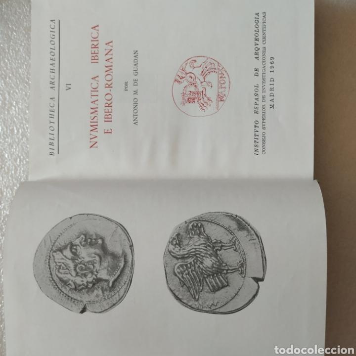Catálogos y Libros de Monedas: Numismática Ibérica e Ibero romana. Antonio M.de Guadan - Foto 2 - 199998272