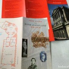 Catálogos y Libros de Monedas: BANK OF ENGLAND- 2 FOLLETOS. Lote 204271856