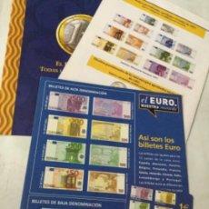 Catálogos y Libros de Monedas: EL EURO-2 FOLLETOS- 1997 Y 2002. Lote 204272127