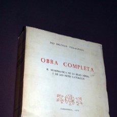 Catálogos y Libros de Monedas: PÍO BELTRÁN VILLAGRASA. OBRA COMPLETA (DOS TOMOS). VER SUMARIO. NUMISMÁTICA, ARQUEOLOGÍA, MONEDAS.. Lote 205052986