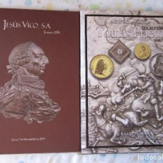 Catálogos y Libros de Monedas: 2 SUBASTAS SINGULARES: J. VICO Y AUREO: COL. TOMÁS PRIETO. ENVÍO CERTIFICADO:10 €. Lote 205737563