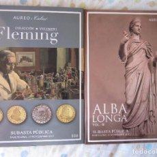 Catálogos y Libros de Monedas: 2 SUBASTAS SINGULARES 2: AUREO: COL. FLEMING Y ALBA LONGA. ENVÍO CERTIFICADO:10 €. Lote 205738217