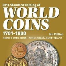 Catálogos y Libros de Monedas: WORLD COINS 1701-1800 6º EDICION. Lote 205787012
