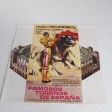 Catálogos y Libros de Monedas: FAMOSOS TOREROS DE ESPAÑA / FOLLETTO RARO / NUMISMATICA IBERIA S.A. / BUEN ESTADO. Lote 205806068