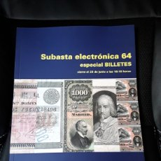Catálogos y Libros de Monedas: CATALOGO SUBASTA CAYON ESPECIAL BILLETES.JUNIO 2020. Lote 205845472