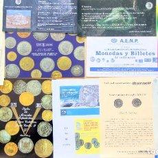 Catálogos y Libros de Monedas: LOTE 12 ANUNCIOS Y PROGRAMAS NUMISMATICA. Lote 205870806
