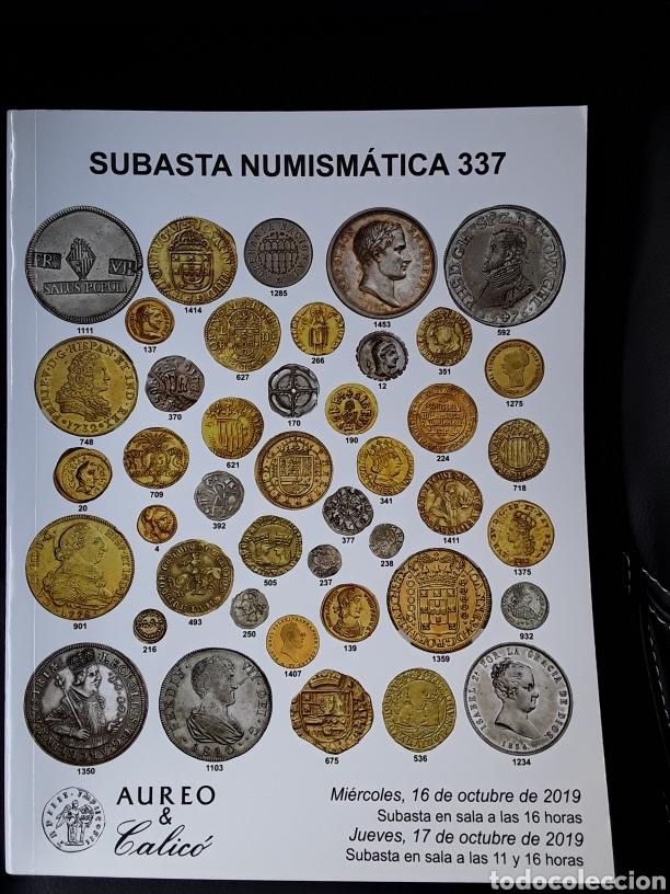 CATÁLOGO SUBASTA AUREO. OCTUBRE 2019. (Numismática - Catálogos y Libros)