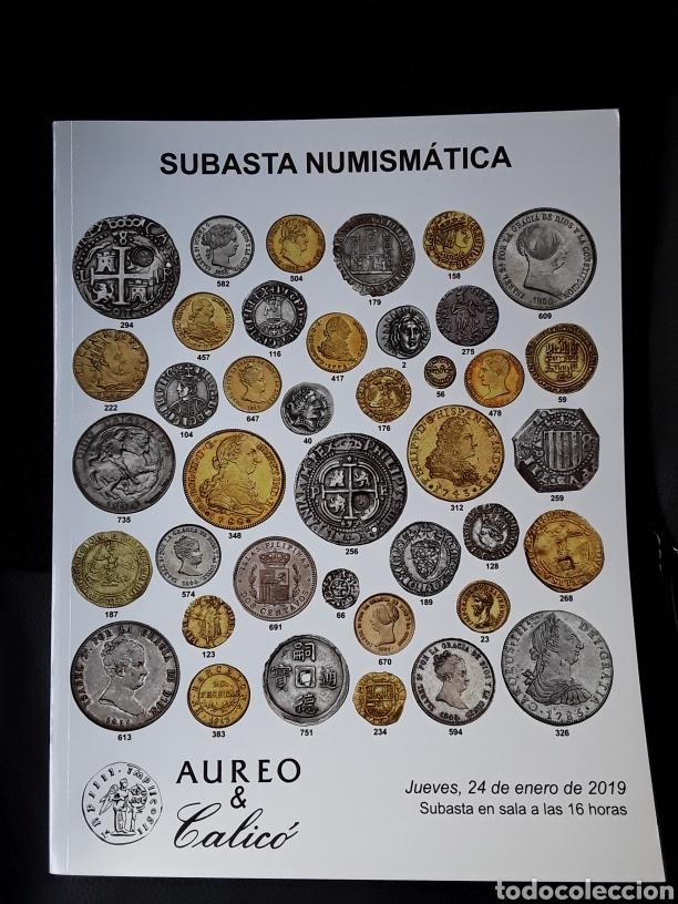 CATÁLOGO SUBASTA AUREO. ENERO 2019 (Numismática - Catálogos y Libros)