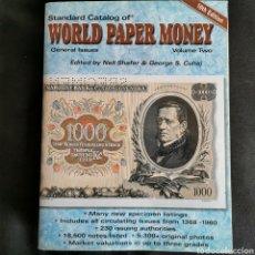 Catálogos y Libros de Monedas: EXCELENTE CONSERVACIÓN. WORLD PAPER MONEY VOLUMEN 2, 10A EDICIÓN. VER DESCRIPCIÓN. Lote 206995378