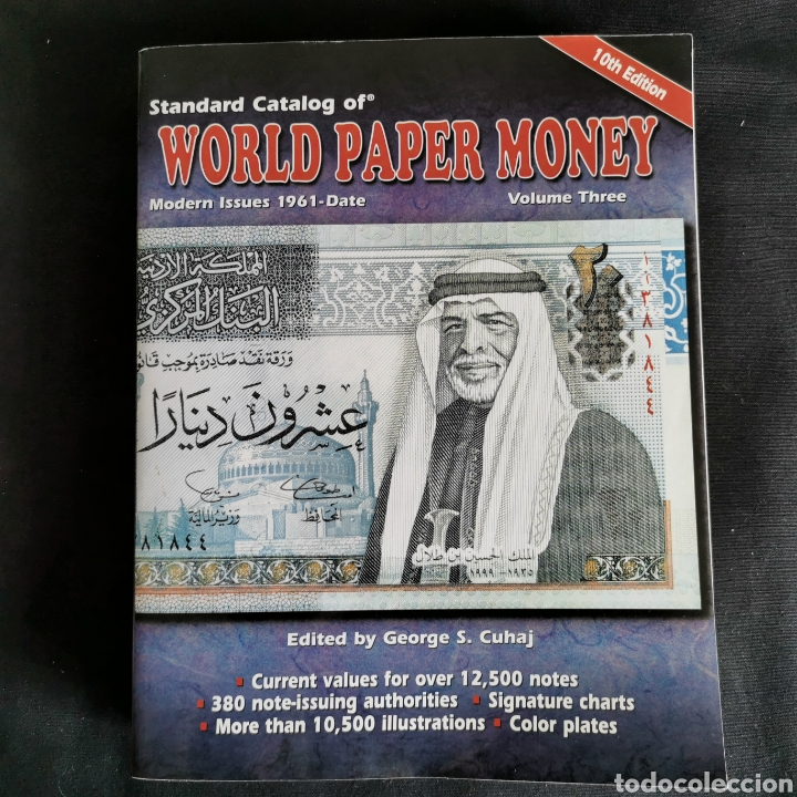 EXCELENTE CONSERVACIÓN. WORLD PAPER MONEY VOLUMEN 3, 10A EDICIÓN. VER DESCRIPCIÓN (Numismática - Catálogos y Libros)