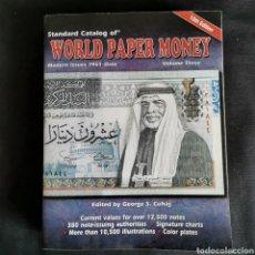 Catálogos y Libros de Monedas: EXCELENTE CONSERVACIÓN. WORLD PAPER MONEY VOLUMEN 3, 10A EDICIÓN. VER DESCRIPCIÓN. Lote 206995501
