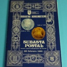Catálogos y Libros de Monedas: CATÁLOGO SUBASTA NUMISMÁTICA NVMEX 1981. Lote 207121650