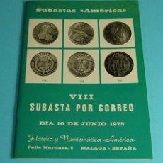 Catálogos y Libros de Monedas: CATÁLOGO SUBASTA NUMISMÁTICA AMÉRICA 1975. Lote 207122085