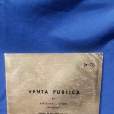 Catálogos y Libros de Monedas: ANTIGUO CATÁLOGO JUAN R. CAYON 1978 CON NUMEROSAS FOTOGRAFÍAS DE MONEDAS. Lote 207212558