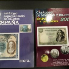 Catálogos e Livros de Moedas: LOTE DE 2 CATÁLOGOS DE MONEDAS Y BILLETES. Lote 209821242