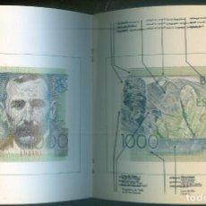 Catálogos y Libros de Monedas: NUMULITE * BANCO DE ESPAÑA BILLETE MIL PESETAS 1000 LIBRITO EXPLICATIVO SIN BILLETE. Lote 210531561