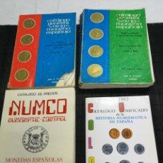 Catálogos y Libros de Monedas: LOTE 4 CATALOGOS DE PRECIOS Y GENERAL DE LA MONEDA ESPAÑOLA,ESPECIALIZADO, 1976 1977, 1983. Lote 212144753