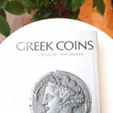 Catálogos y Libros de Monedas: GREEK COINS 1966. SCHÖNSTEN GRIECHENMÜNZEN SIZILIENS 1940. GREEK COINS & HISTORY 1969. KRAAY+HIRMER. Lote 212834912