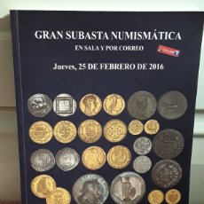 Catálogos y Libros de Monedas: CATALOGO SUBASTA DE MARTI HERVERA Y SOLER Y LLACH. FEBRERO 2016.. Lote 214914332