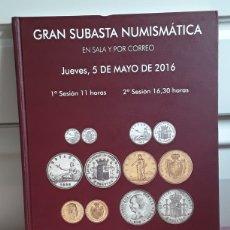 Catálogos e Livros de Moedas: CATALOGO SUBASTA DE MARTI HERVERA YSOLER Y LLACH. MAYO 2016.. Lote 214914742
